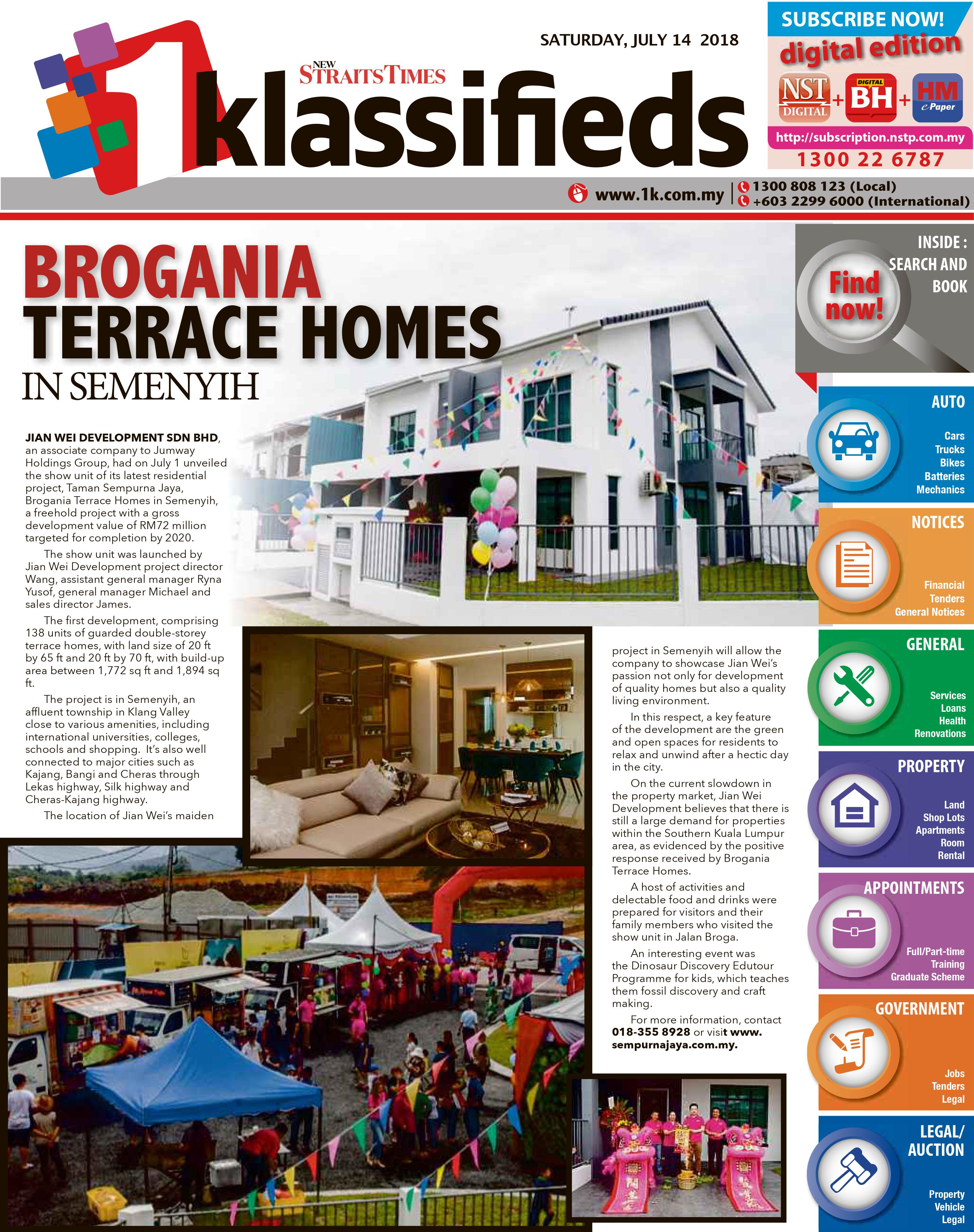 Brogania Terrace Homes In Semenyih