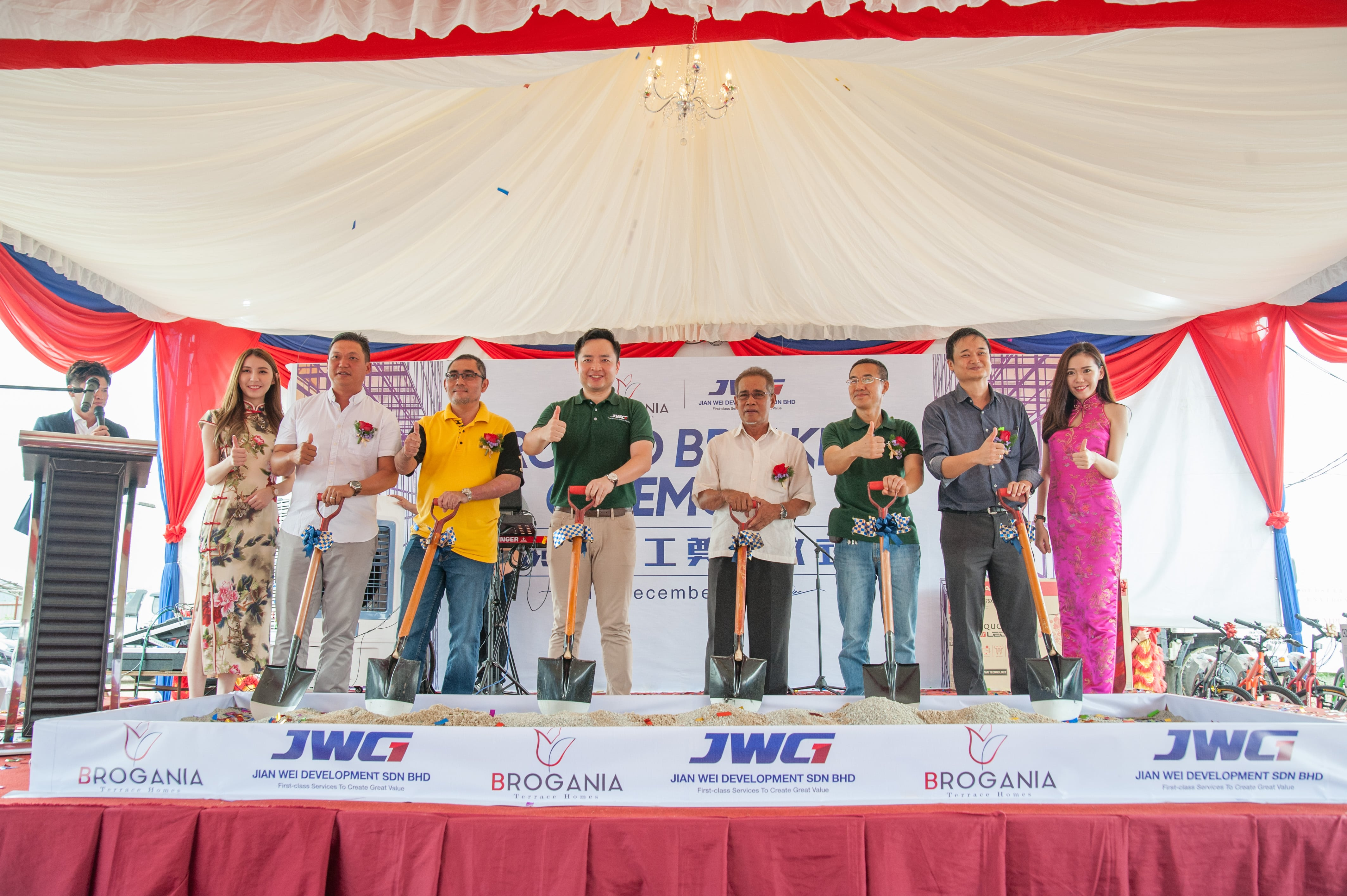 建伟首个海外项目开工奠基仪式 (Ground Breaking Ceremony) Jumway Holdings of China upbeat about Malaysia's Property Market